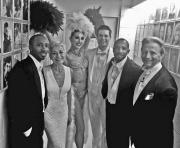 Louise Pitre with Sean & John Scott, Alexandra & Ron Remke and Jack Everly backstage - NAC, Ottawa