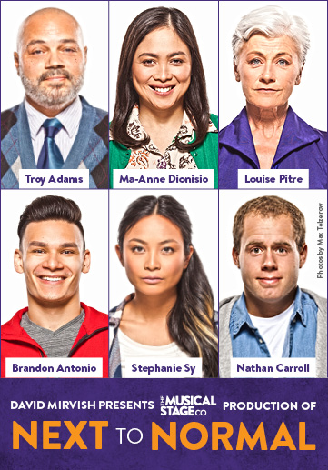 Louise Pitre Poster for Next to Normal David Mirvish Presents 2018