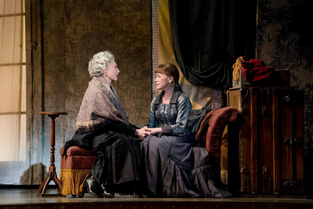 Dee Hoty as Mary Cassatt and Louise Pitre as Adult Marie in Marie, Dancing Still at the 5th Avenue Theatre 2019 Photo credit Paul Kolnik