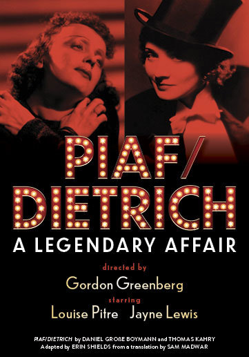 Louise Pitre and Jayne Lewis in PIAF/DIETRICH in Toronto 2019