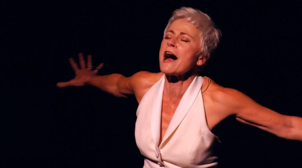Louise Pitre in her one-woman show ON THE ROCKS photographer Michael Cooper